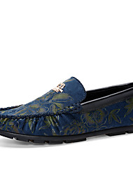 New Fashion Style Men's Genuine Leather Soft Breathable Print Driving Shoes Slip-on Man's Flats for Party/Trip