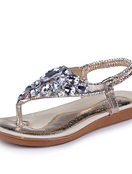 Women's Sandals Summer / Fall Sandals Synthetic Casual Flat Heel Beading Silver / Gold Others