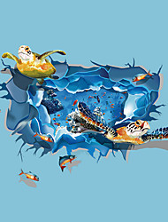 New 3D Ocean Sea Turtle Animals 3D Wall Stickers Fashion Living Room Bathroom Children's Bedroom Wall Decals
