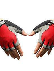 treinamento de meio dedo respirável luvas de malha carro elétrico equitação da motocicleta de fitness luvas metade do dedo