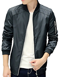 The fall of new youth movement trend of Korean men's coat jacket collar coat color baseball leisure