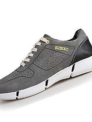 Herren-Sneaker-Lässig-PU-Flacher Absatz-Komfort-Braun Grau Khaki