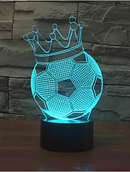 футбол корону касания затемнением 3D LED ночь свет 7colorful украшения атмосфера новизны светильника освещения свет рождества
