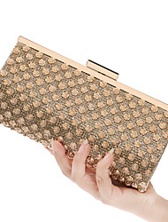 L.west Women Elegant High-grade Rose Diamonds Evening Bag