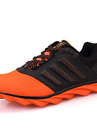Men's Sneakers Spring Fall Comfort Tulle Casual Flat Heel Lace-up Black Green Orange Running