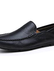 Herren-Flache Schuhe-Lässig-PU-Flacher Absatz-Komfort / Flache Schuhe-Schwarz / Gelb