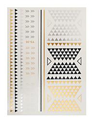 1pc Gold Silver Metallic Tattoo Chain Bracelet Design Flash Waterproof Temporary Tattoo Sticker Paster YS-36