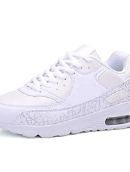 Women's Sneakers Spring / Fall Comfort / Flats Fabric / Tulle Athletic / Black / White Sneaker