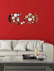Mode Stickers muraux Miroirs Muraux Autocollants Stickers muraux décoratifs,PVC Matériel Repositionable Décoration d'intérieur Wall Decal