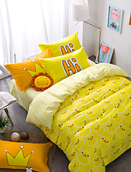 Duck brief style 4piece bedding sets print duvet cover Sets 100% Cotton Bedding Set Queen Size