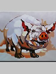 Ручная роспись Животное Картины маслом,Modern 1 панель Холст Hang-роспись маслом For Украшение дома