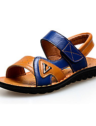 Boy's Sandals Summer Leatherette Casual Magic Tape Blue Brown White