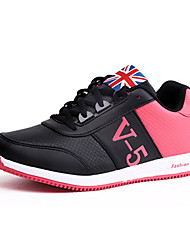 Da donna-Sneakers-Sportivo-Comoda-Piatto-PU (Poliuretano)-Nero / Bianco / Grigio