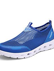 Sandálias-Conforto-Rasteiro-Rosa Prateado Cinza Azul Real-Tule-Ar-Livre