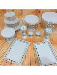 Hochzeitsfeier Party-Geschirr-10piece / Set Kuchen Accessoires Schild Edelstahl Klassisch