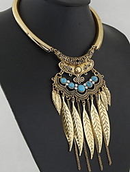 Women's Choker Necklaces Statement Necklaces Alloy Fashion Statement Jewelry Silver Golden Jewelry Daily Casual 1pc