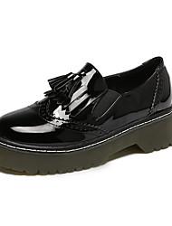 Mujer / Unisex-Plataforma-Plataforma / Creepers-Tacones-Casual-Cuero Patentado-Negro