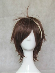 Cosplay  Guilty Crown Wigs 35cm Long Straight Dark Brown  Wig Synthetic Hair Wig
