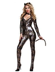 Costumes de Cosplay Costume de Soirée Animal Fille Lapin+D4190 Fête / Célébration Déguisement d'Halloween Noir/jaune Rétro