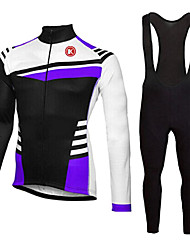 KEIYUEM®Spring/Summer/Autumn Long Sleeve Cycling Jersey+long Bib Tights Ropa Ciclismo Cycling Clothing Suits #L61