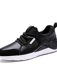 Chaussures Hommes-Sport-Noir / Blanc-Polyuréthane-Sneakers