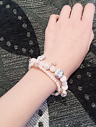 Strand Bracelets 1pc,White Bracelet Fashionable Circle 514 Ceramic Jewellery