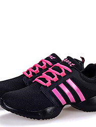 Women's Dance Shoes Sneakers Breathable Synthetic Low Heel Black/White/Fuchsia