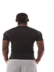 Corrida Blusas Homens Manga Curta Respirável Poliéster Fitness / Esportes Relaxantes / Badminton / Ciclismo/Moto / Corrida EsportivoWear