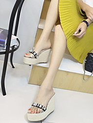 Women's Slippers & Flip-Flops Summer Wedges / Open Toe PU Casual Wedge Heel Others Silver Others