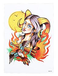 1pc Women Men Tattoo Beauty Sheep Girl Bird Design Body Arm Back Art Temporary Tattoo Sticker HB-432