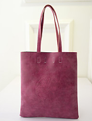 Women PU Casual  Outdoor Storage Shopper Matte Embossed Shoulder Bag