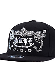 Men Women Hip Hop Black Floral Kidney Letter Embroidery Street Dance Baseball Caps