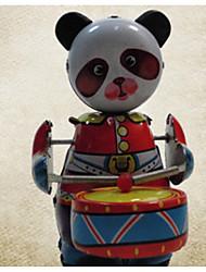 Red Metal Panda Toy Drums Metal Drums