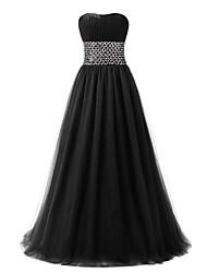 Vestido de baile Vestido de noiva formal com detalhe de cristal