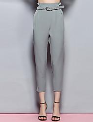 chinos cinza sólidos calças femininas Sybel, sexy / bonito / street chique