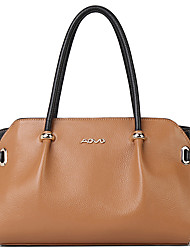 AOVO® Women Cowhide Shoulder Bag Almond-1409