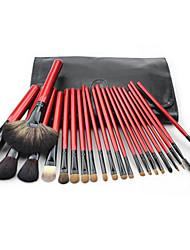 22 Makeup Brush Set Mink Hair Portable Wood Face