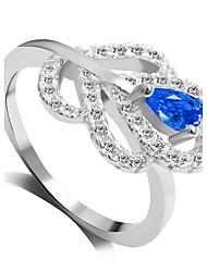 Ringe Modisch Hochzeit / Party Schmuck Aleación Damen Statementringe 1 Stück,6 / 7 / 8 / 9 Blau