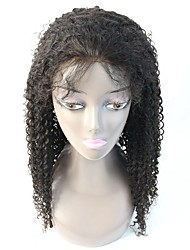 100% Human Virgin Hair Jerry Curly Glueless Illusion Lace Front Wig/Full Lace Wig