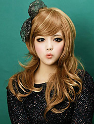droites couleur brune longues perruques pour les femmes perruques synthétiques résistantes à la chaleur nouvelle de la mode
