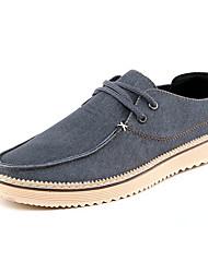Masculino-Tênis-Conforto-Rasteiro-Azul Marrom-Jeans-Social Casual