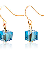 Earring Square Jewelry Women Fashion Wedding / Party / Daily / Casual / Sports Crystal / Alloy 1 pair Gold