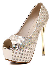 Women's Shoes Leatherette Spring / Fall Heels / Peep Toe Heels Party & Evening Stiletto Heel Sparkling Glitter  Others