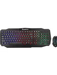 Bolton 836 Internet Cafes Game Keyboard Set Computer Rainbow Light Cable Usb Keyboard Usb Mouse