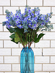 1 1 Ramo Poliéster / Plástico Lilás Flor de Mesa Flores artificiais 27.5inch/70cm