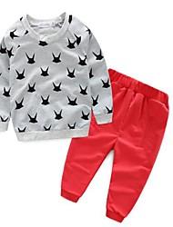 Boy's Casual/Daily Print Clothing SetCotton Spring / Fall Blue / White