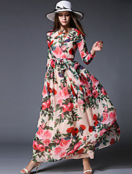 MAXLINDY  Women's Going out / Party/Cocktail / Holiday Vintage / Street chic / Sophisticated Floral Swing Dress