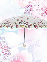 Rojo / Azul Paraguas de Doblar Soleado y lluvioso textil Viaje / Lady
