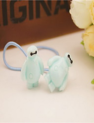 Korean Flower Girl's Resin Baymax Hair Tie