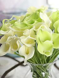 1 1 Ramo Poliéster Lírios Flor de Mesa Flores artificiais 34.5cm